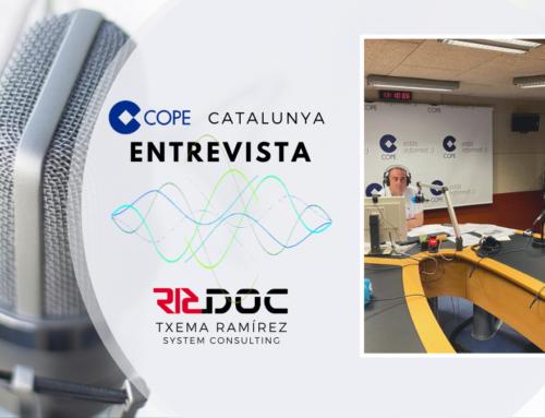 Entrevista als estudis de COPE Catalunya.