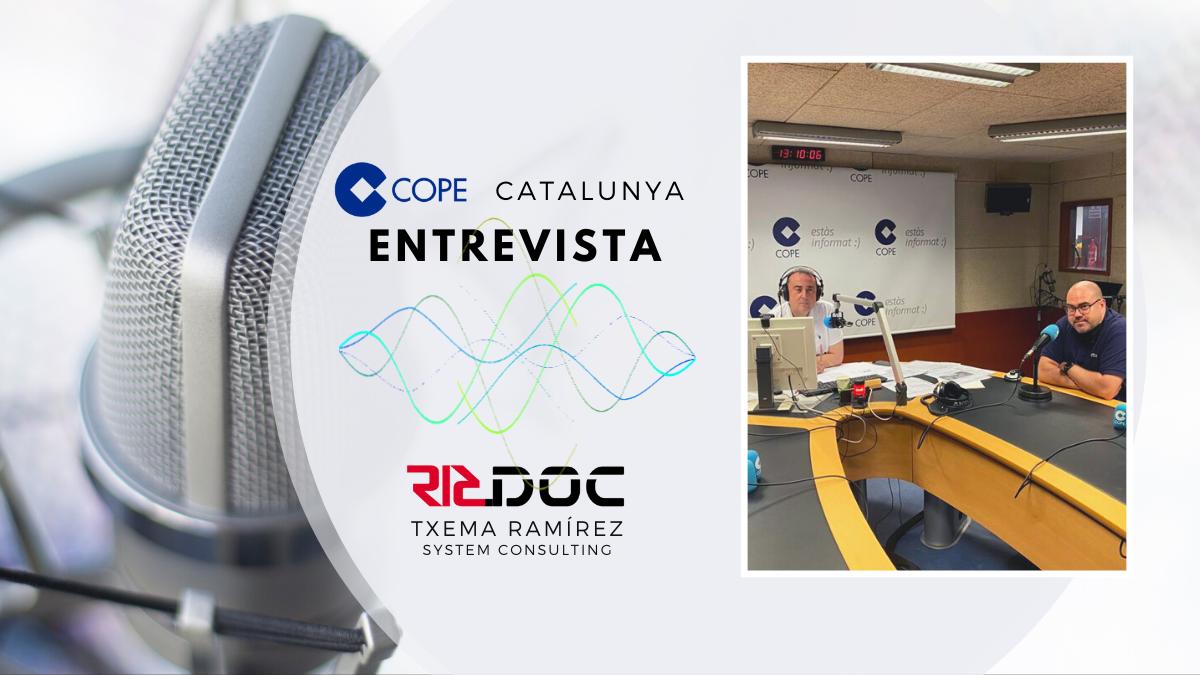 Entrevista en los estudios de COPE Catalunya