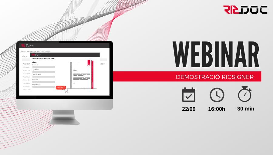 Webinar demostració RICSigner