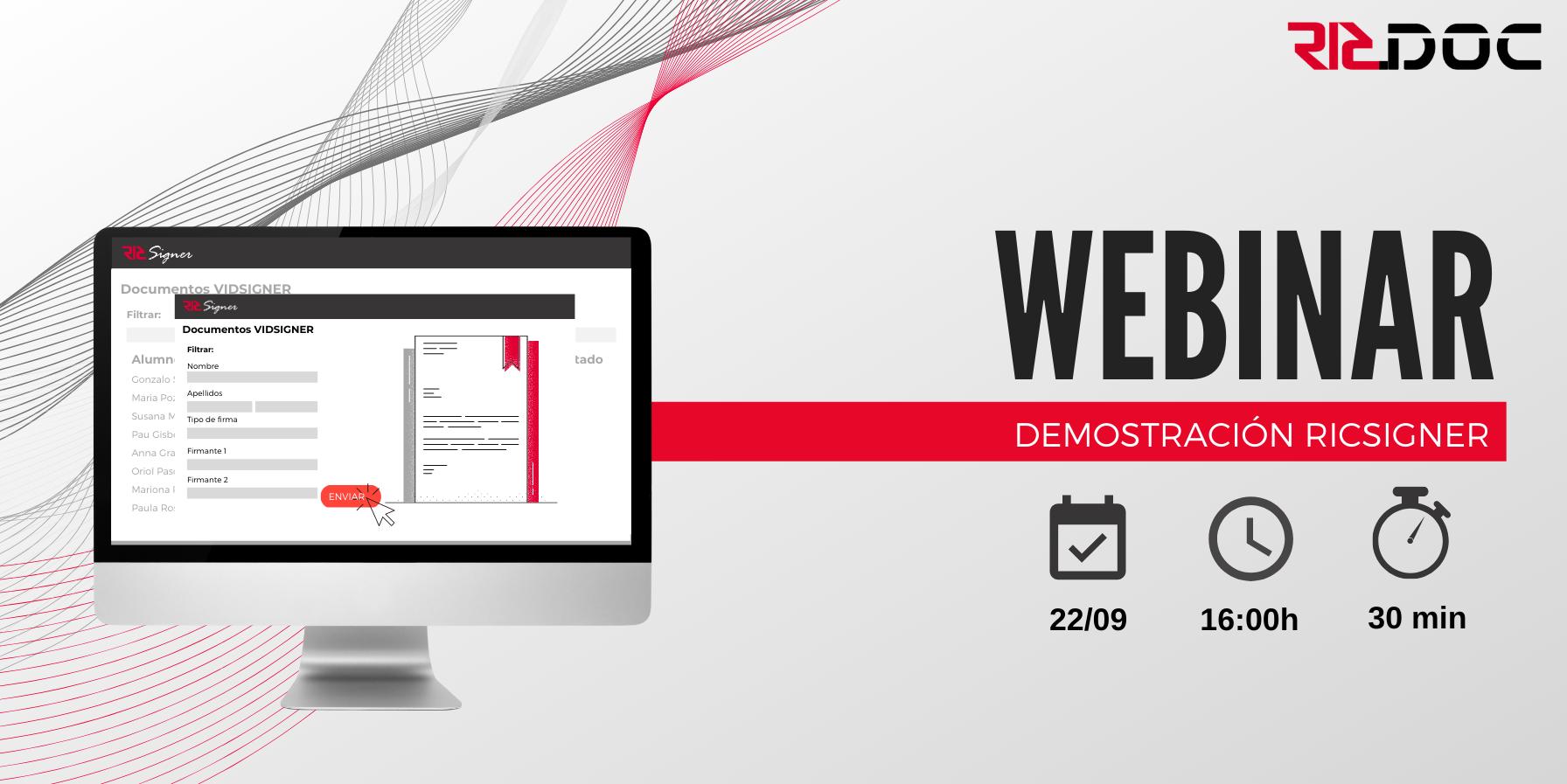 RICSIGNER_Software para gestionar y enviar firmas digitales